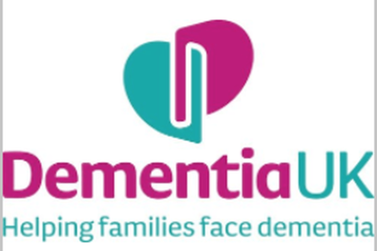 Dementia UK Pink and Turquoise logo